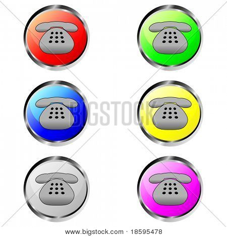 Colorful contact phone buttons