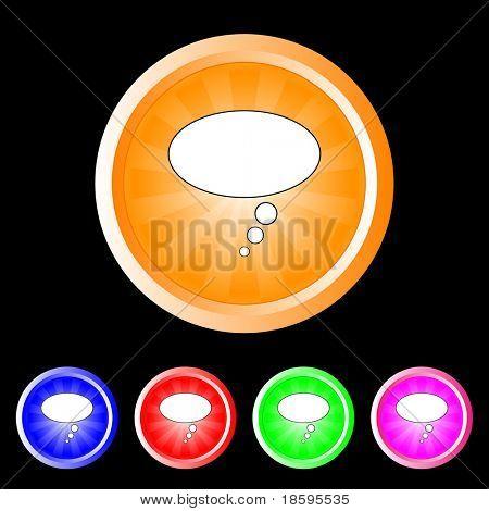 Bubble burst buttons