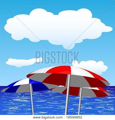 Umbrella and sea