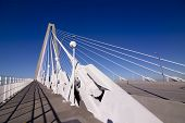 empty ravenel suspension bridge in Charleston SC