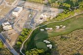 suburban development under construction with golf course