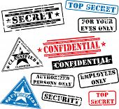 stock photo of top-secret  - Various security rubber stamps  - JPG