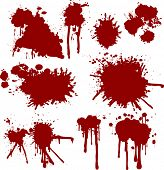 blood splatters (vector)