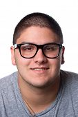 Young Man In Nerd Glasses