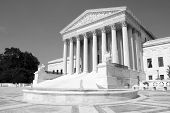 image of supreme court  - The front of the US Supreme Court in Washington - JPG