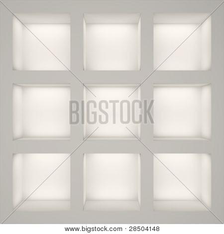 Empty White Rack