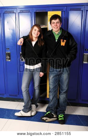 Teen Age School Couple