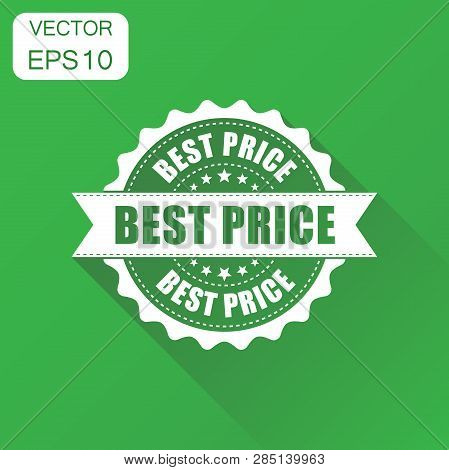 poster of Best Price Sale Rubber Stamp Icon. Business Concept Best Price Stamp Pictogram. Vector Illustration