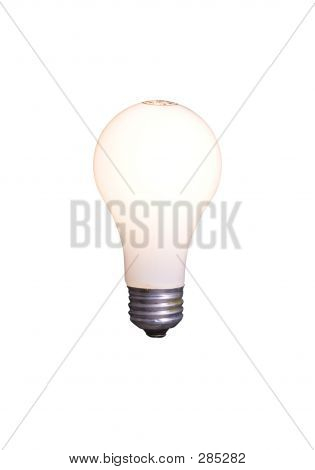 Light Bulb Isolated On White With Clipping Path
