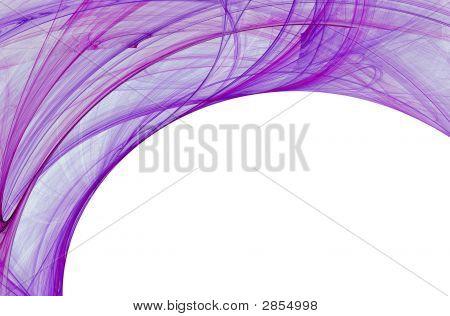 Diseño de frontera Fractal púrpura