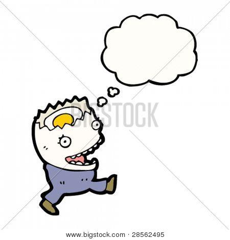 cartoon running egg
