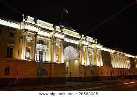Senate and Synod building at night