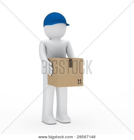 Man With Brown Package