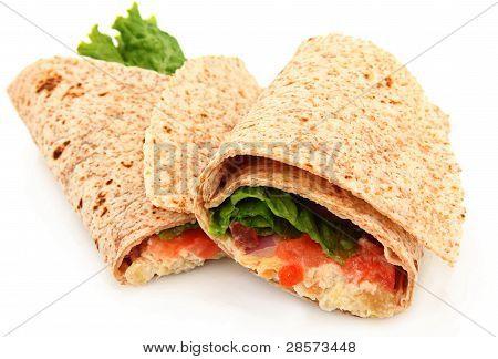 Organic Chicken Salad Wrap