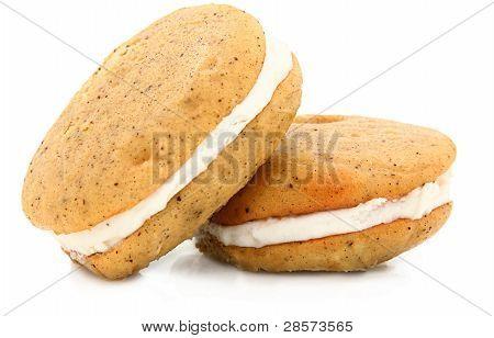 Vanilla Bean Whoopie Pie On White