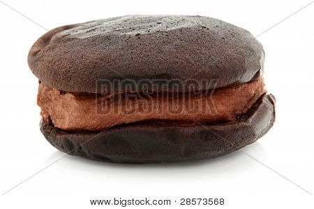 Chocolate Whoopie Pie On White