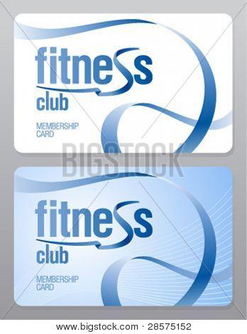 Fitness club membership card design template.