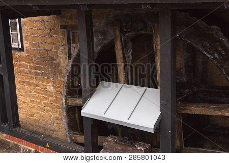 Watermill Closeup Frozen Water Winter