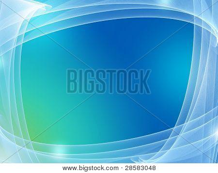 Blue Background Framed In Net