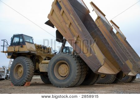Large Yellow Dump Truck