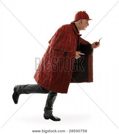 Detective Sherlock Holmes is running
