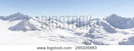 Panorama View From Ski Slope