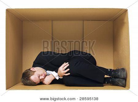 Sleeping In A Cardboard Box