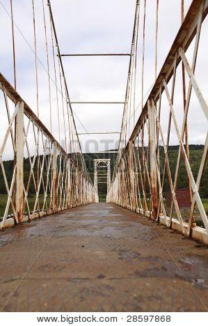 Rusty Victorian Suspension Bridge