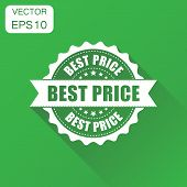 Best Price Sale Rubber Stamp Icon. Business Concept Best Price Stamp Pictogram. Vector Illustration  poster