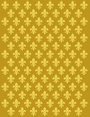 foto of fleur de lis  - French Lily flower motif background vector design - JPG