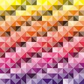 VECTOR - Abstract background - Combination of triangle and square - 512 Colors used in attractive gr