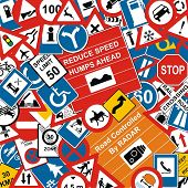 pic of road sign  - VECTOR  - JPG