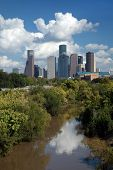 Downtown Houston City Skyline