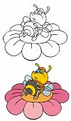 Coloring Pages For Childrens With Funny Animals,funny Bee poster