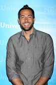 LOS ANGELES - JAN 6:  Zachary Levi arrives at the NBC Universal All-Star Winter TCA Party at The Ath