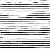 Seamless Stripe Doodle Pattern. Wavy Linear Doodle Water Brush, Hand Drawn Abstract Grunge Elements. poster