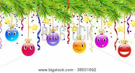 hanging funny christmas balls