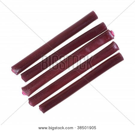 Grape Licorice Rows