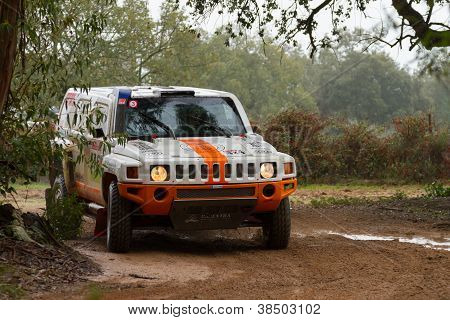 Portalegre, Portugal - November 3: Zdenek Prizek Drives A H3 Evo In Baja 500, Integrated On Fia Worl