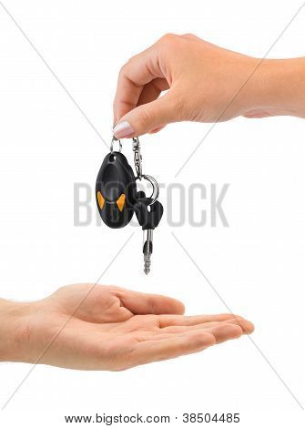 Hands And Car Key