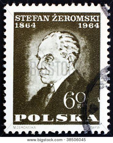 Postage stamp Poland 1964 Stefan Zeromski, Writer