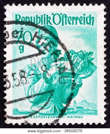 Postage stamp Austria 1949 Woman from Lower Austria, Wachau
