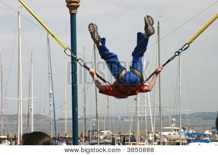 Bungee Jumper Flips Out