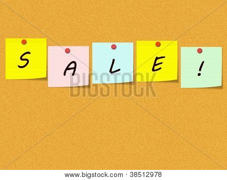 Sale Corkboard Word Concept