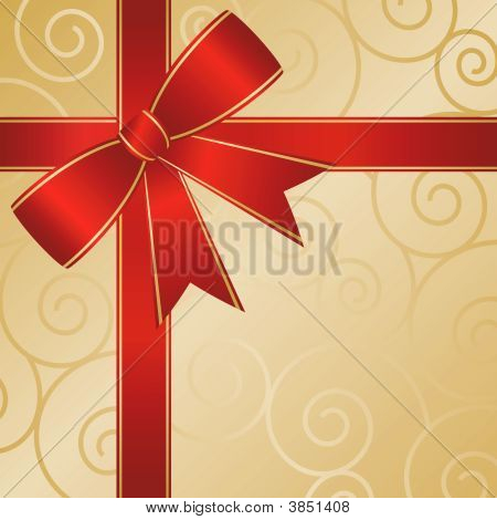 Red Ribbon Package Abstract