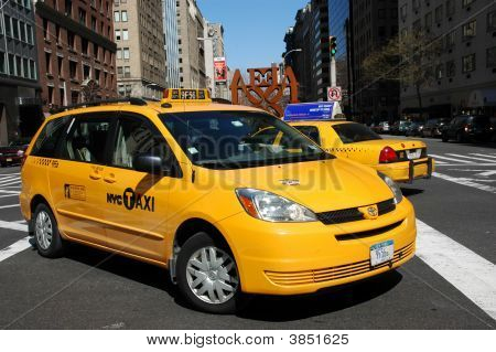 Taxi Cab On Park Avenue