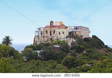Monastery at Crete island in Greece