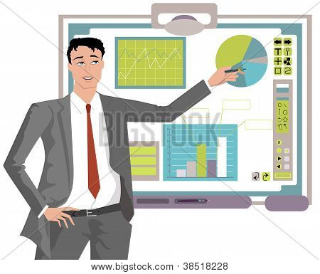Guy With Interactive Whiteboard