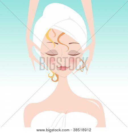 Spa Girl Face