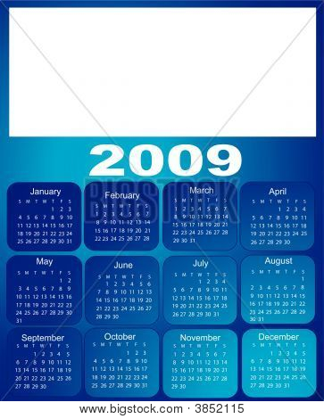 Blue Calendar, 2009